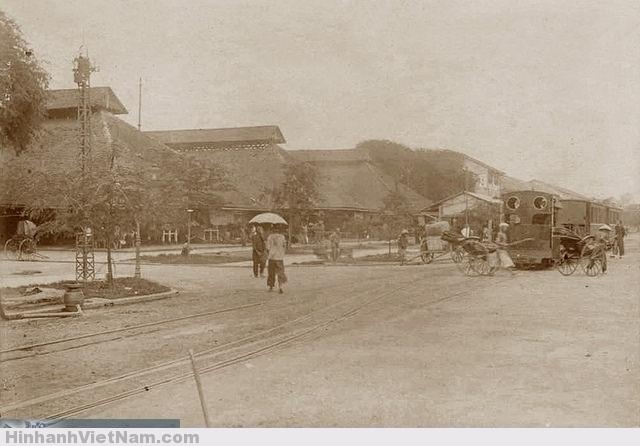 Chợ Sài Gòn xưa. Chợ Lớn. SAIGON - TRAMWAY de la ROUTE BASSE DE CHOLON ET MARCHE DE SAIGON