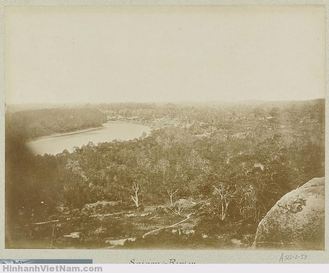 The Saigon River in Vietnam ca 1870