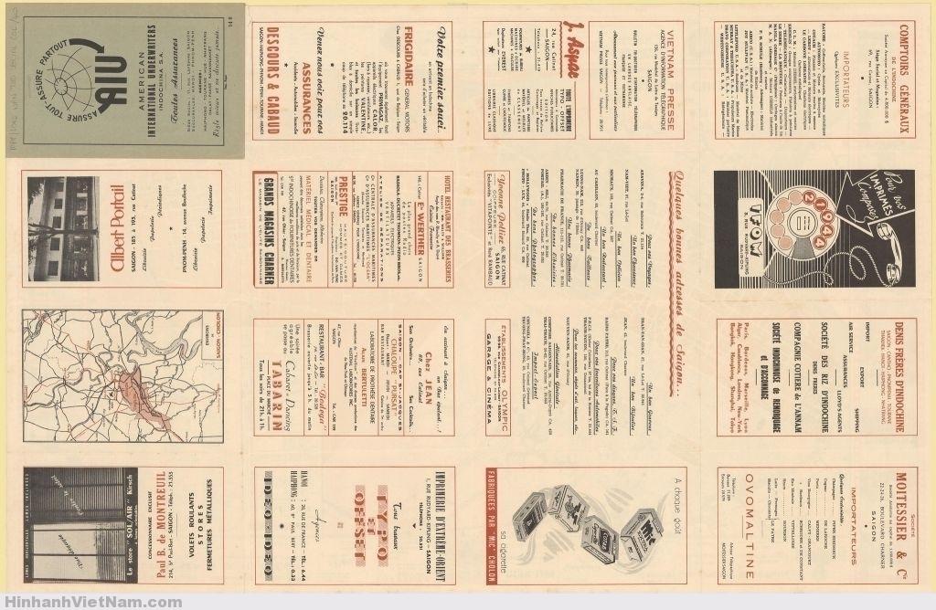 BẢN ĐỒ SAIGON 1952-1955 (Mặt sau)