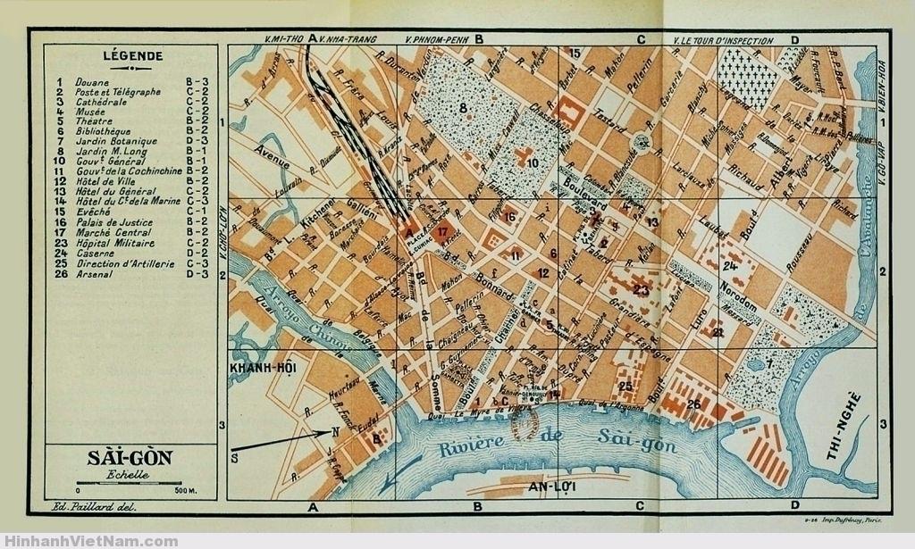 Bản-đồ-Sài-GÒn-1926-thật-đẹp Bản đồ thật đẹp ở trên được in trong sách hướng dẫn du lịch của tác giả Madrolle xuất bản năm 1926 tại Paris