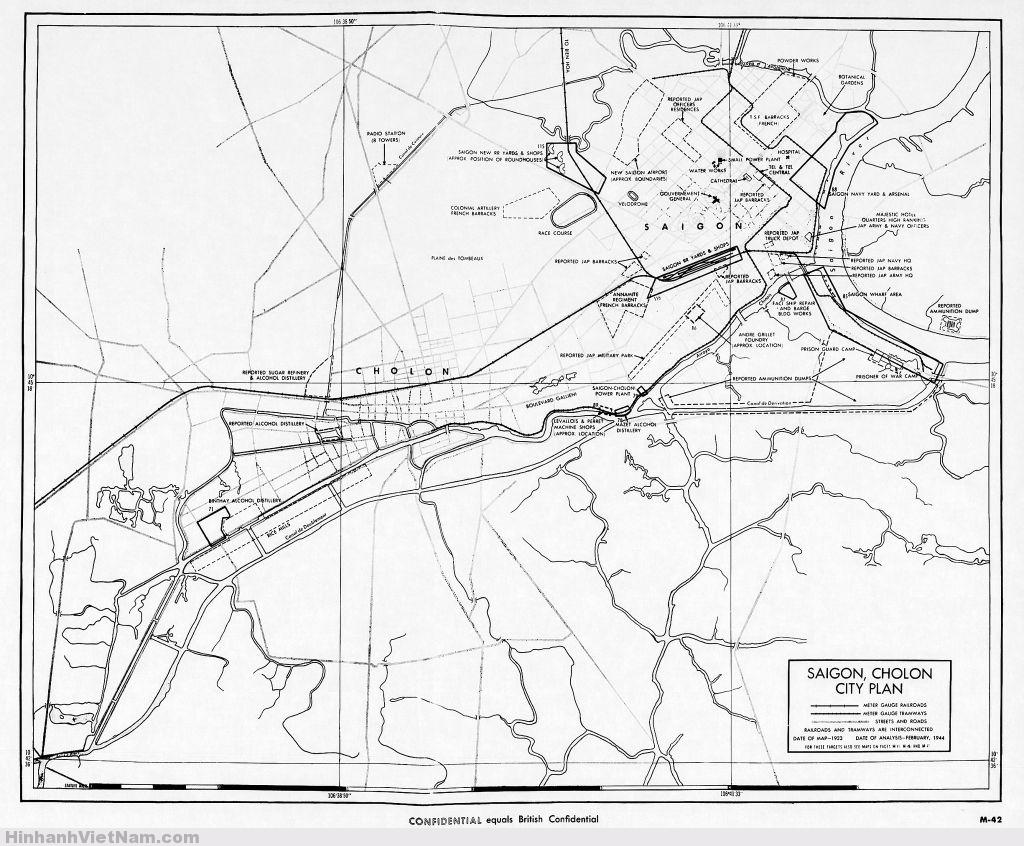 Bản đồ Saigon 1923 với các thông tin phân tích Tháng 2/1944  Xem bản đồ này thấy một chi tiết rất thú vị; tuyến đường sắt bắc nam cũ là đường Trần Quang Diệu với Trần Huy Liệu.