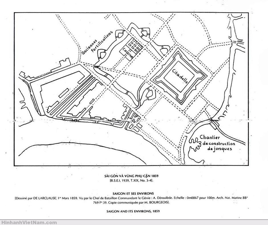 Bản đồ Saigon một năm sau ngày Pháp chiếm SG