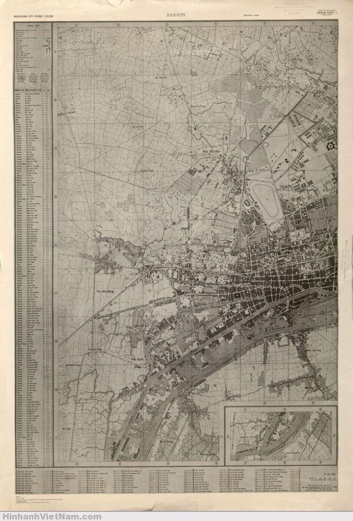 Map of Saigon 1961 (sheet 1)  source: library.ttu.edu Texas Tech University Libraries