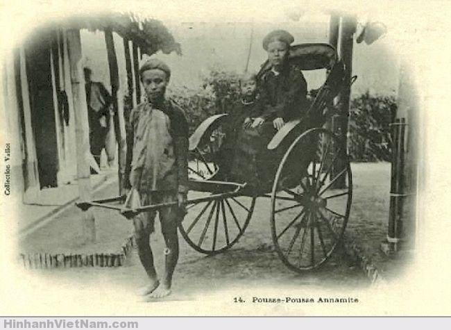 Phu kéo xe ở Saigon