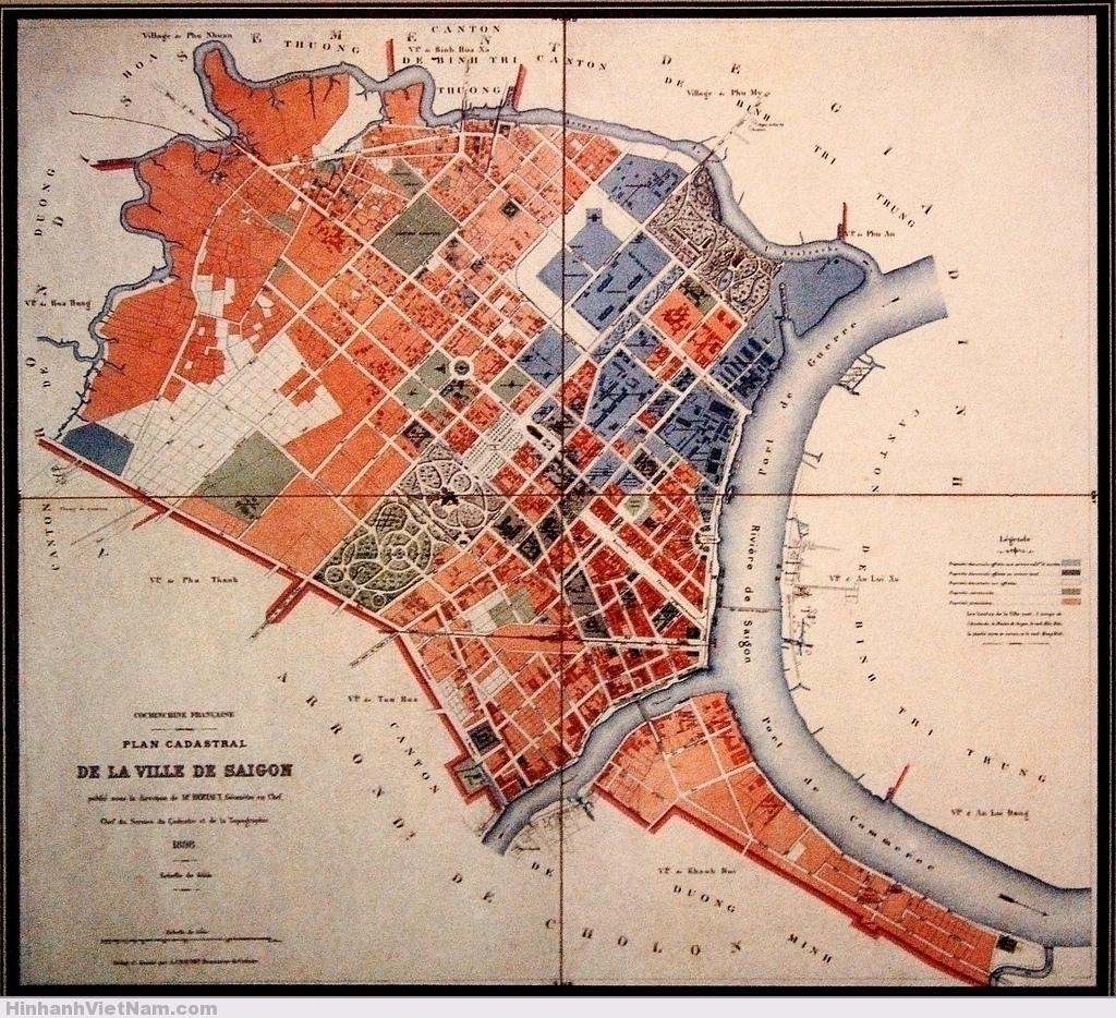 Plan Cadastral de la Ville de Saigon - 1896