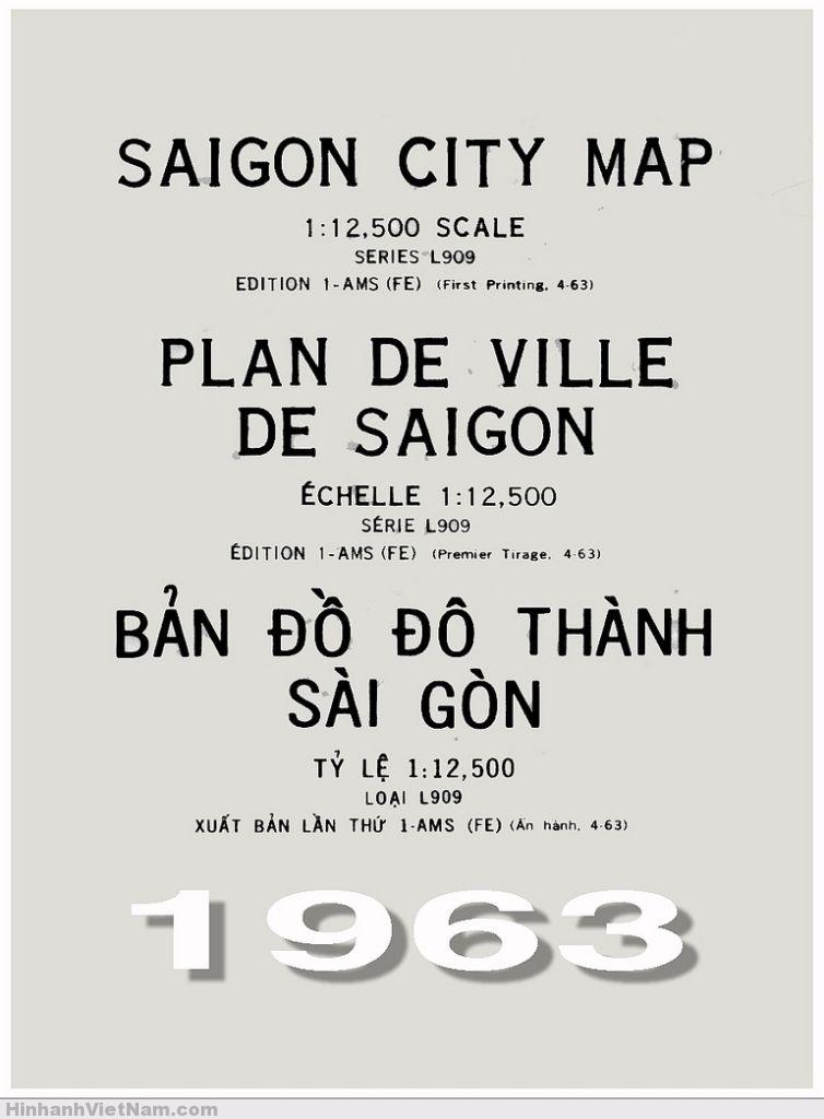 SAIGON CITY MAP - Scale 1:12,500 (First Printing 4-63)