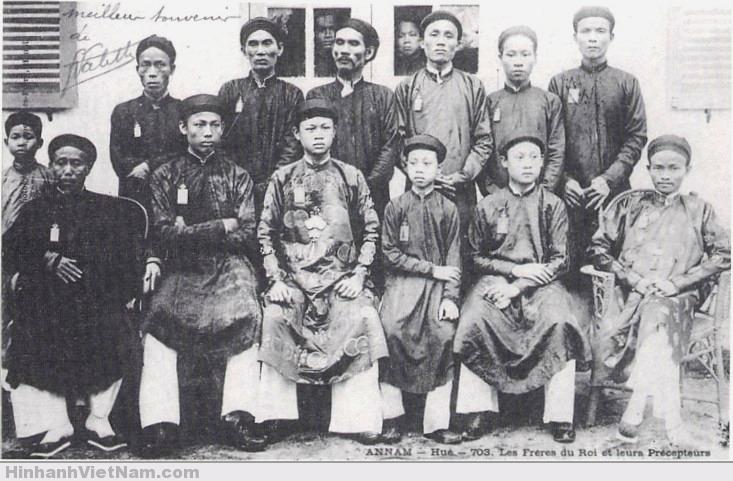 Các anh em của vua Thành Thái và các ông thầy (phụ đạo)