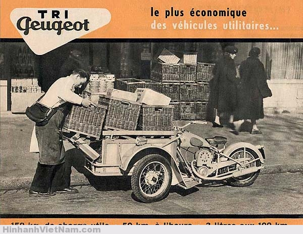 Kiểu xe 3 bánh Triporteur Peugeot
