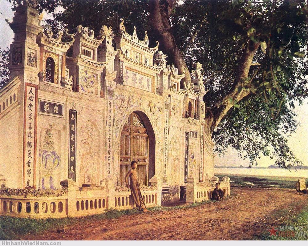 Một ngôi chùa trên đường đến Tam Đảo, 4/1916.