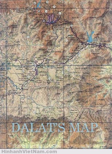 Bản đồ Đà Lạt ngày xưa - được mệnh danh là thiên đường nơi hạ giới