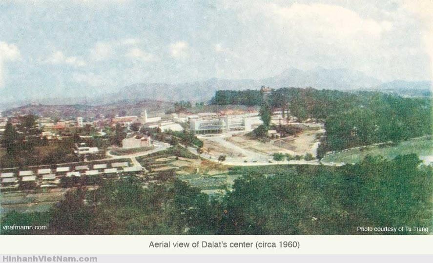 Quang cảnh khu vực trung tâm Đà Lạt 1960