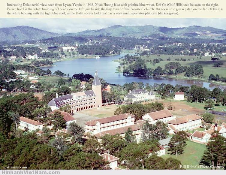 Trường YERSIN Đà Lạt nhìn từ trên cao