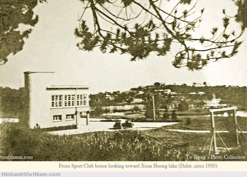 Câu lạc bộ thể thao nhìn từ phía bờ hồ Xuân hương 1950