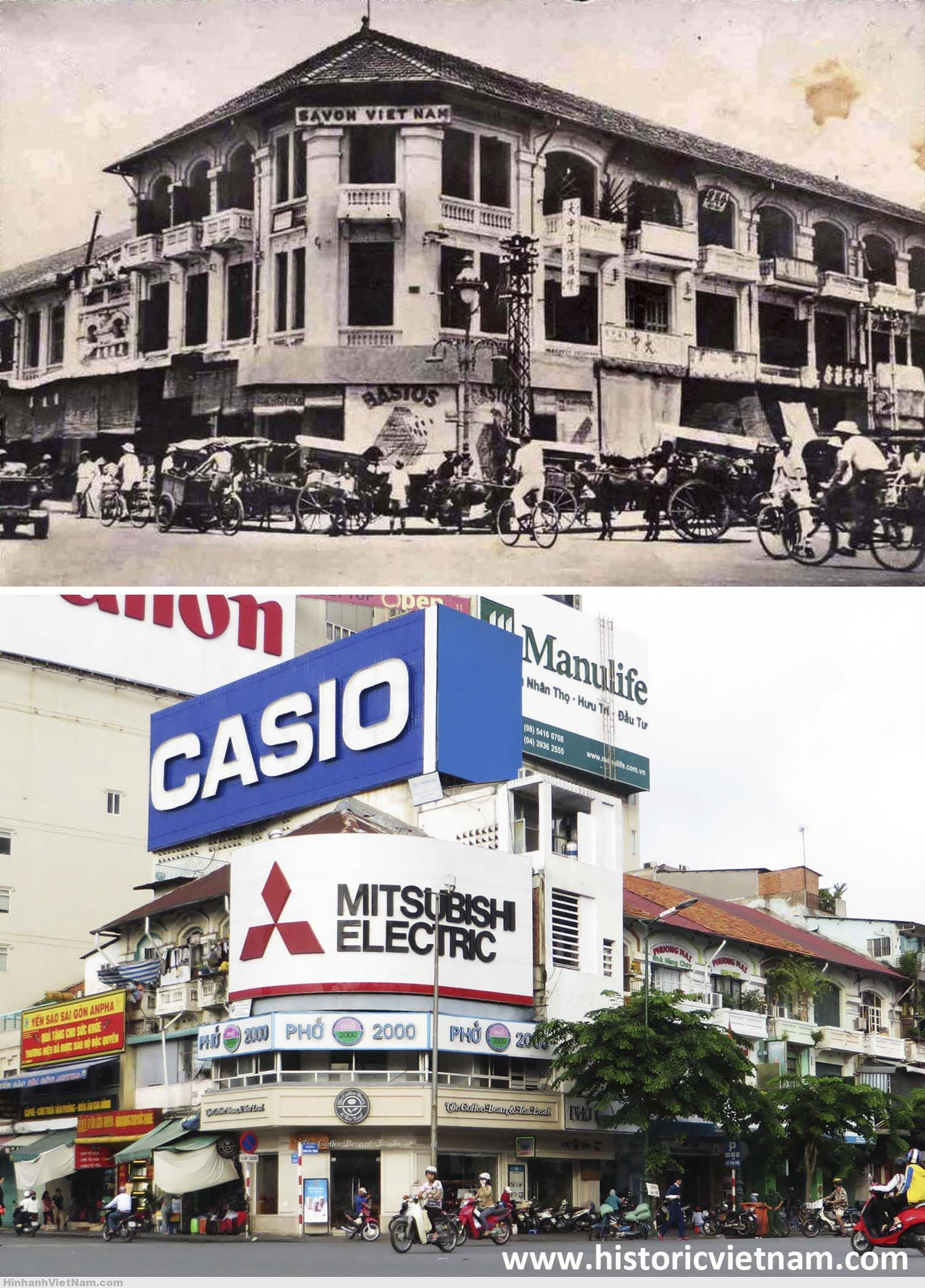 Các cửa hàng ở cửa Tây chợ Bến Thành