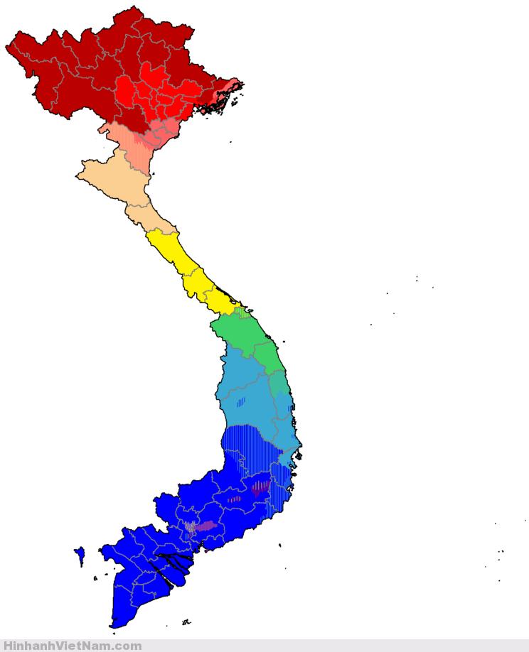 Phân bố các phương ngữ ở Việt Nam