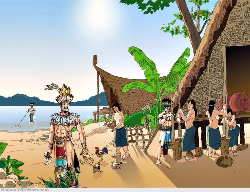 tranh vẽ lịch sử việt nam thời kỳ Hồng Bàng