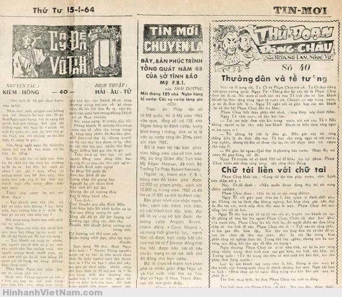 Truyện chưởng / kiếm hiệp trên báo Sài Gòn xưa