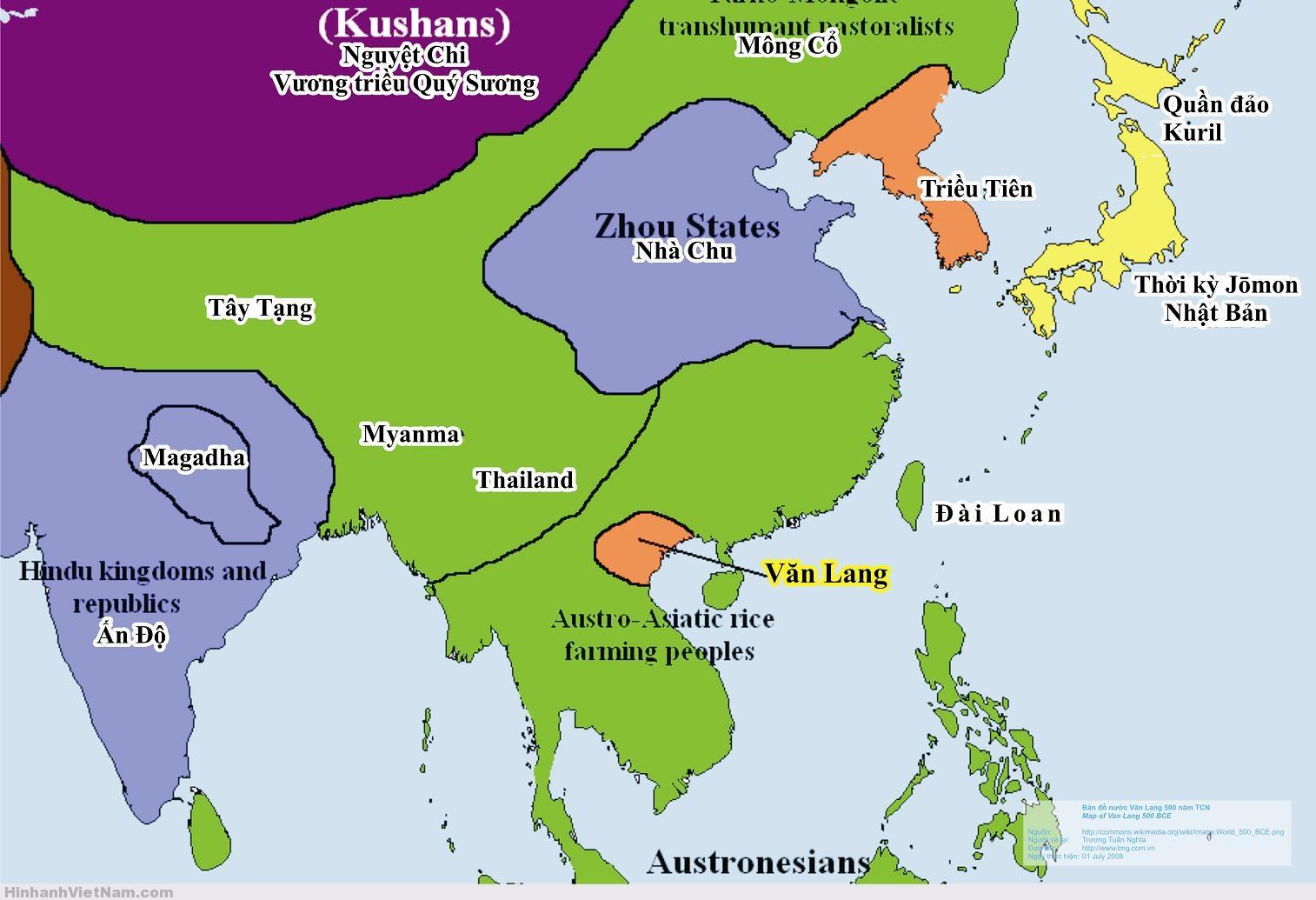 Nước Văn Lang năm 500 TCN