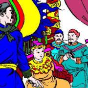 Lý Thường Kiêt đánh Tống bên kia biên giới. Tranh minh họa