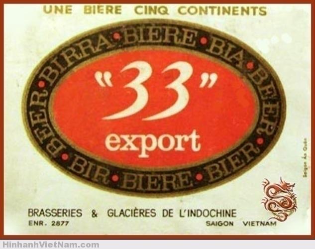Nhãn bia 33, là tiền thân của bia 333 ngày nay