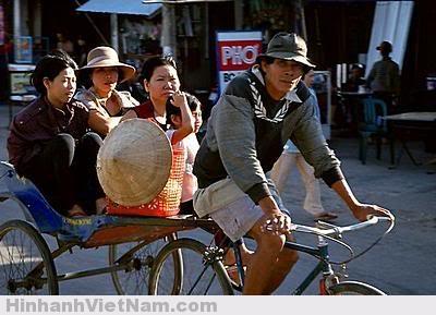 Xe lôi - xe đạp kéo - xe thồ