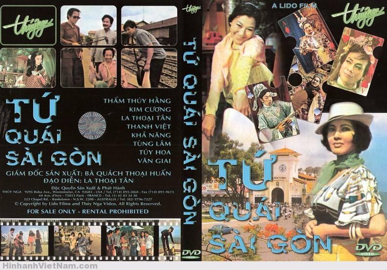 FILM : TỨ QUÁI SÀI GÒN Tứ quái Sài Gòn là tên một bộ phim điện ảnh hài do hãng phim Lido sản xuất năm 1973. Phim quy tụ nhiều diễn viên nổi tiếng của miền Nam Việt Nam như quái kiệt Tùng Lâm, La Thoại Tân, Khả Năng, Thanh Việt, Thẩm Thúy Hằng, Kim Cương, Văn Giai, Túy Hoa. Đây là một phim hài tiêu biểu của miền Nam trước 1975, được phụ đề bằng tiếng Trung và tiếng Pháp, phát hành đi nhiều nước châu Á.