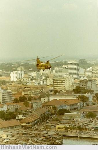Chữa cháy bằng trực thăng tại Sài Gòn trước 1975